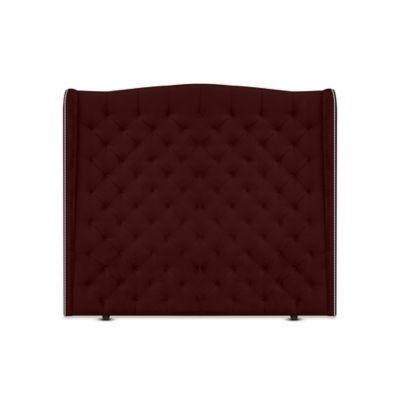 Cabecero para Cama Sencilla Luxury de Piso 100x150cm Tela Piel de Durazno Vinotinto