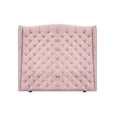 Cabecero para Cama Sencilla Luxury de Piso 100x150cm Tela Piel de Durazno Rosa