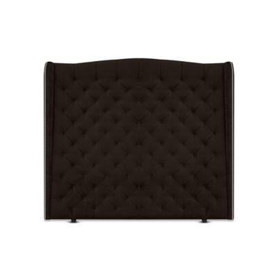 Cabecero para Cama Sencilla Luxury de Piso 100x150cm Tela Piel de Durazno Chocolate