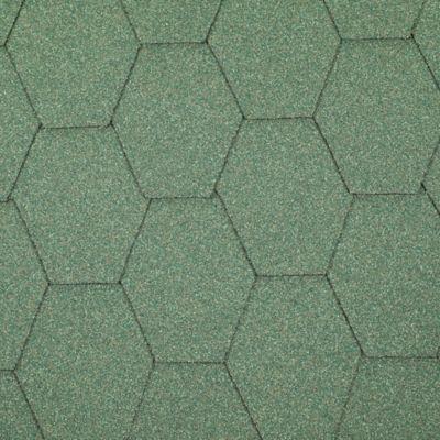 Teja Asfaltica Hexagonal Verde 2.5m2 x 25 Unidades