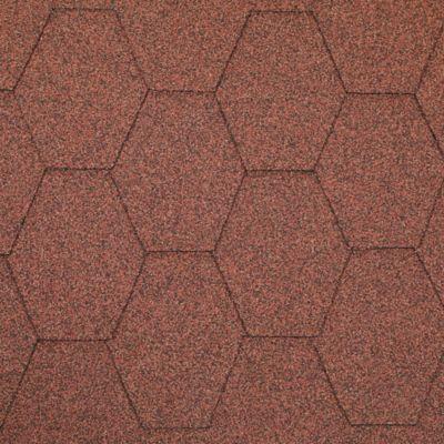 Teja Asfaltica Hexagonal Rojo 2.5m2 x 25 Unidades