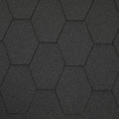 Teja Asfaltica  Hexagonal Negro 2.5m2 x 25 Unidades