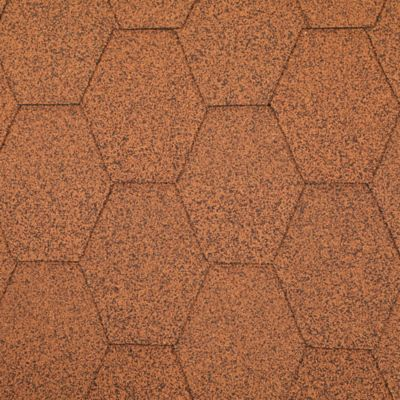 Teja Asfaltica Hexagonal Tabaco 2.5m2 x 25 Unidades