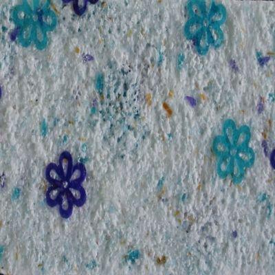 Recubrimiento Decorativo de Pared Papatya 4,5M2 Azul Claro/Oscuro