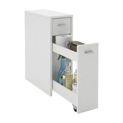 Mueble Gabinete para Baño 58cm Alto x 20cm Ancho x 45cm Fondo color Blanco