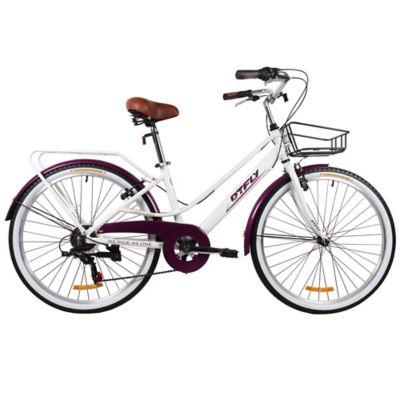 Bicicleta Crucera Rin 26 Pulgadas Copenhagen Blanco - Morado