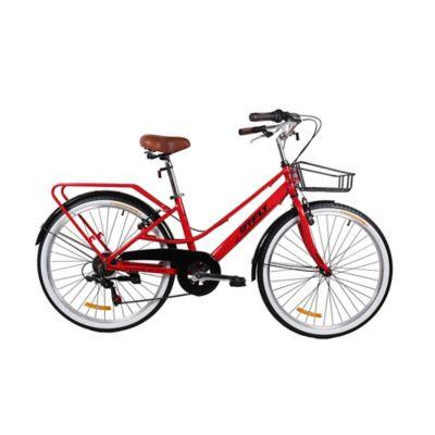 Bicicleta Crucera Rin 26 Pulgadas Copenhagen Rojo - Negro