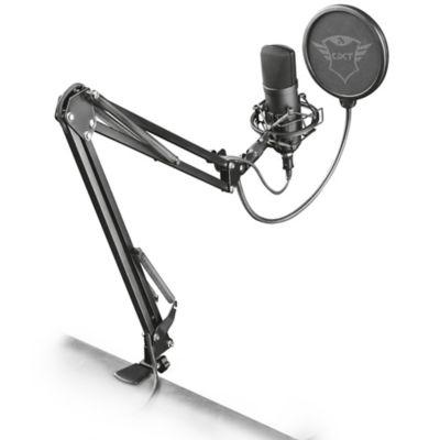 Micrófono Gxt 252 + Emita Streaming con Brazo Ajustable Negro