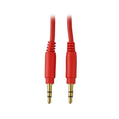 Cable Audio 3.5Mm 1M Bolsa Rojo