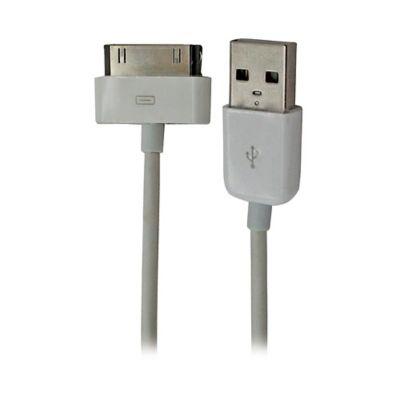 Cable USB para IPod/IPhone/IPad 1 Mtr Bolsa Blanco