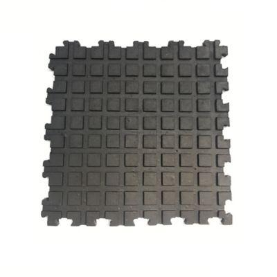 Tapete en Caucho Acanalado 50x50cm Tráfico Pesado Negro x 8 Unidades