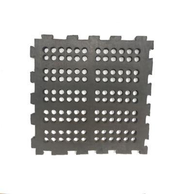 Tapete de Caucho Perforado 50x50cm Tráfico Pesado Negro x 8 Unidades