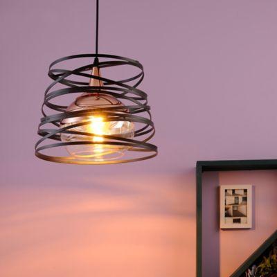 Lámpara Colgante  Reggia 1 Luz E27 Cobre Negro