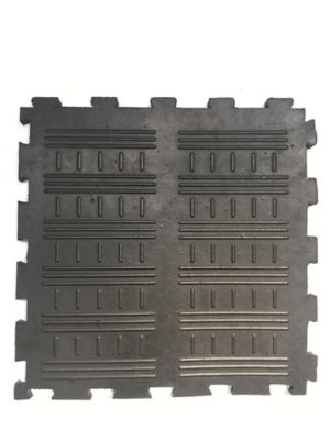 Tapete de Caucho Acanalado 50x50cm Tráfico Pesado Negro x 40 Unidades