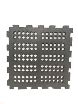 Tapete de Caucho Perforado 50x50cm Tráfico Pesado Negro x 40 Unidades