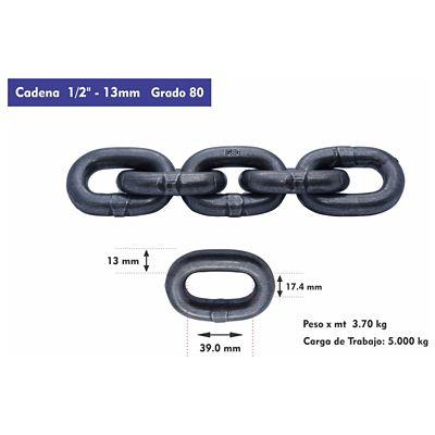 Cadena Pulida G-80 de 13 mm