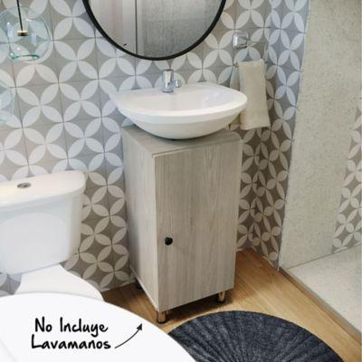 Mueble de baño Dena Ceniza 76x34.4x32.5 cm