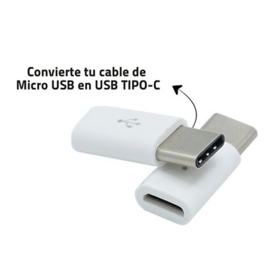 Convertidor MicroUSB A Tipo C X2 Und Datos Y Carga