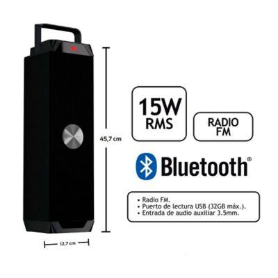 Amplificador Recargable Torre 15W Rms Bluetooth