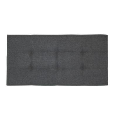 Cabecero Tapizado para Cama Sencilla 100 Tela Gris