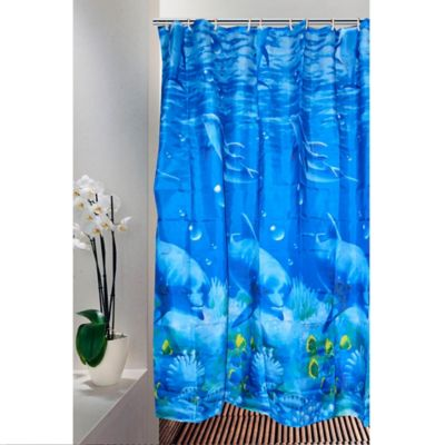 Cortina para Baño 200 x 180 cm Delfines