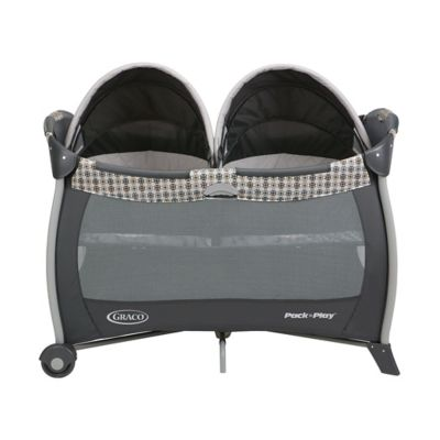 Cuna Corral Twins Vance Gris