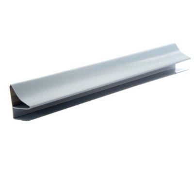 Accesorio Perfil Perimetral Corniza PVC 10 mm x 4 Mts Gris Claro x 50 Unidades