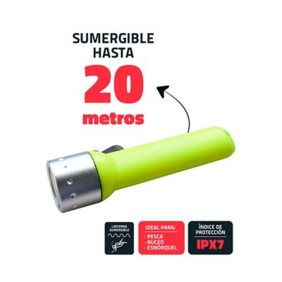 Linterna Baterias Sumergible 50M Led 1W 120 Lumens