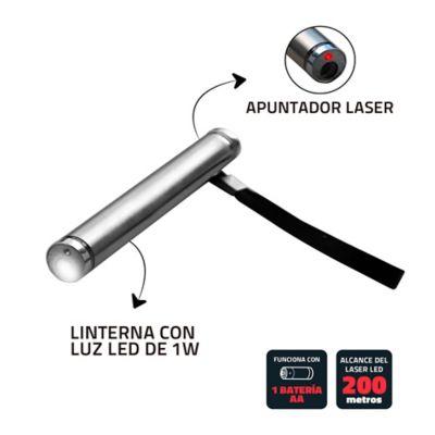 Linterna Baterias 1 Led Con Apuntador Laser