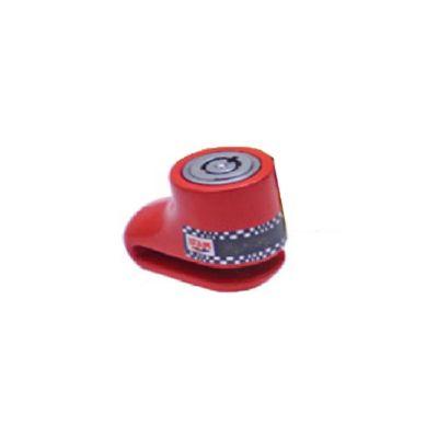 Antirobo de Disco DF1R Rojo con Llave Tubular y Cuerpo Monoblock