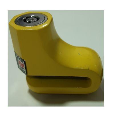 Antirobo de Disco DF2A Amarillo con Llave Tubular y Cuerpo Monoblock