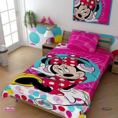 Cobija Rashel Estampada 160x220 cm Minnie Mouse Fucsia