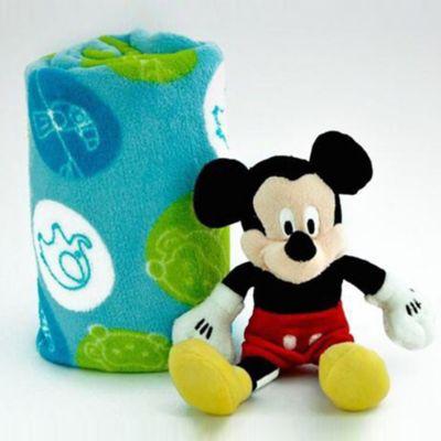 Cobija 90x110 cm + Peluche 27 cm Mickey Mouse