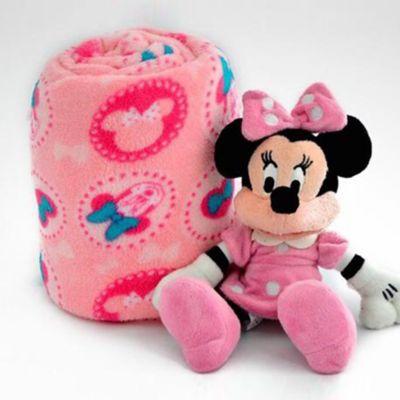 Cobija 90x110 cm + Peluche 27 cm Minnie Mouse