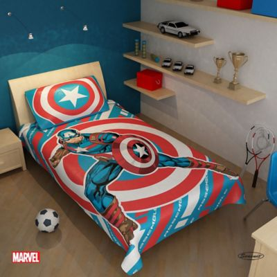 Cubrecama Microfibra Sencillo 180x235 cm Capitán América