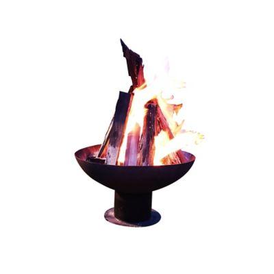 Calefactor de Leña  Terraza en Hierro Tipo Fogata 70cm Diámetro Negro