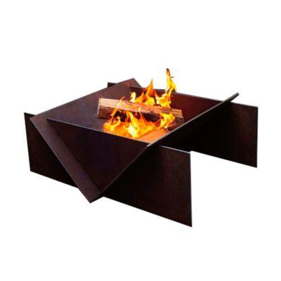 Calefactor de Leña  Terraza en Hierro Tipo Fogata 70x60x38cm