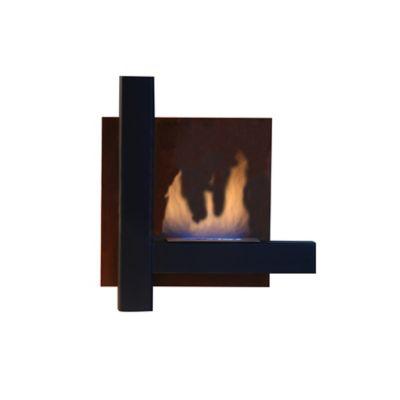 Chimenea  Bioetanol Tipo Cuadro en Hierro 60x60x15cm Negro