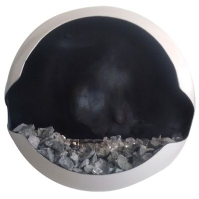Chimenea  Bioetanol Tipo Cuadro en Hierro 50cm Diámetro Negro