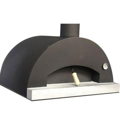 Horno de Leña para Pizza y Pan en Metal 80x60 cm Negro