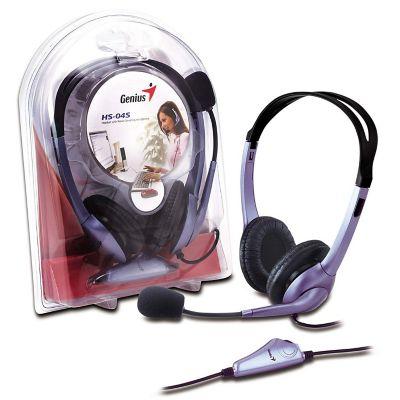 Audífono Tipo Diadema con Micrófono HS-04S