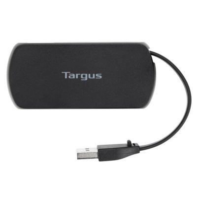Hub 4 puertos USB 2.0 Negro Satinad