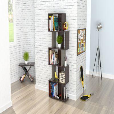 Biblioteca Cerdeña cubos 160x60x26,5cm Wengue Humo