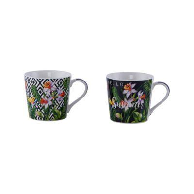 Mug Porcelana Exótico Surtido 9.7x9.1cm