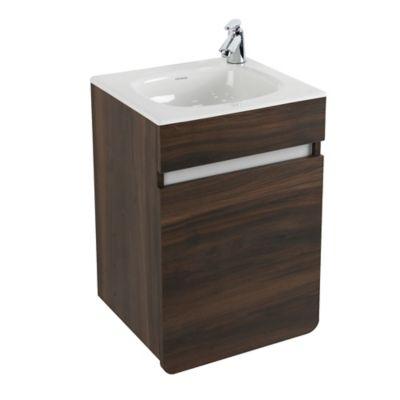 Mueble De Baño Aluvia Elevado Habano Con Lavamanos 40x35 cm