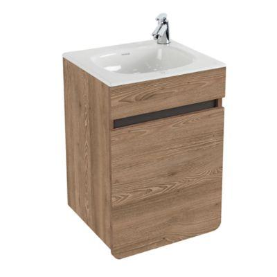 Mueble De Baño Aluvia Elevado Miel Con Lavamanos 40x35 cm