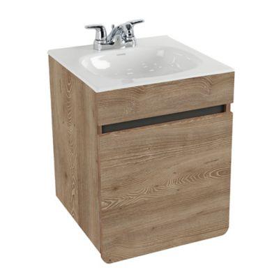 Mueble De Baño Aluvia Elevado Miel Con Lavamanos 45x45 cm