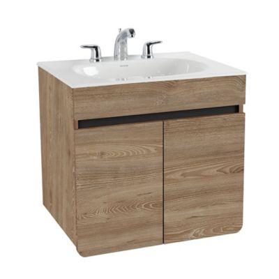 Mueble De Baño Aluvia Elevado Miel Con Lavamanos 60x45 cm