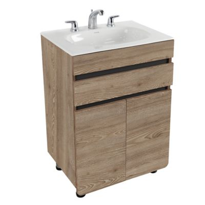 Mueble De Baño Aluvia Miel Con Lavamanos 60x45 cm