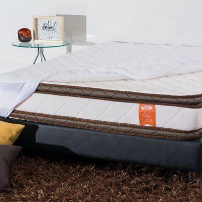 Combo Colchón Soft Pillow Sencillo 100x190cm + Base Cama + Protector